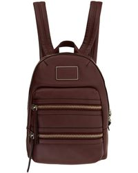 Marc By Marc Jacobs - Burgundy Domo Biker Leather Backpack - Lyst