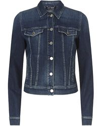 Armani Jeans Embellished Denim Jacket - Lyst