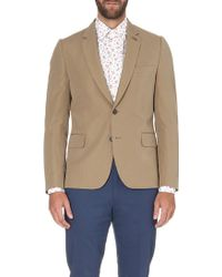 Paul Smith Two-Buttoned Cotton And Linen Jacket - For Men - Lyst