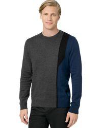 Calvin Klein Intarsia Knit Pullover - Lyst