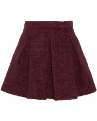 Karl Lagerfeld Hadly Pleated Woven Mini Skirt - Lyst
