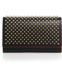 Christian Louboutin | Paloma Spiked Convertible Leather Clutch | Lyst