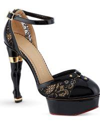 Charlotte Olympia Cheeky Platform Heels - Lyst
