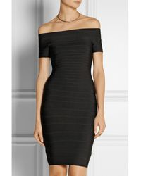Hervé Léger Carmen Off-the-shoulder Bandage Mini Dress - Lyst