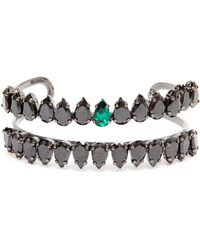 Chanael K - Double-row Corundum Embellished Bracelet - Lyst