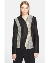 Proenza Schouler Women'S Curved Placket Jacquard Jacket - Lyst