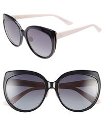 Dior Women'S 'Ific' 57Mm Oversized Sunglasses - Blue/ Gold/ Pink - Lyst