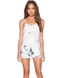 State Of Being - Acid Floral Romper - Lyst