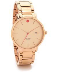 Kate Spade Gramercy Grand Watch - Rose Gold - Lyst