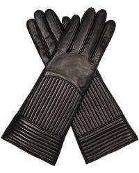 Diane Von Furstenberg Rail Quilted Leather Gloves - Lyst