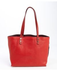 Chloé Plaid Red Leather Large Dilan Tote Bag - Lyst