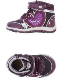 Geox Purple Lowtops  Trainers - Lyst