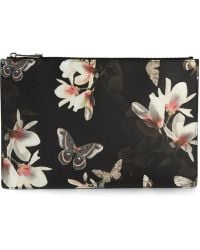 Givenchy Floral Print Clutch - Lyst