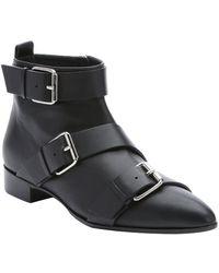 Giuseppe Zanotti Black Leather 'Jakson' Buckle Ankle Boots - Lyst
