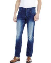 G-Star RAW Dark Wash Slim Fit Jeans - Lyst
