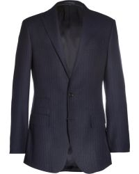 J.Crew Ludlow Navy Pinstriped Wool-Blend Suit Jacket - Lyst