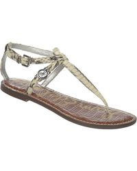 Sam Edelman Galia Snakeskin Printed Leather Sandals - Lyst