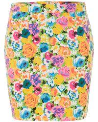 Cutie Graphic Flower Print Skirt - Lyst
