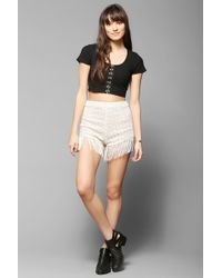 Pins And Needles - Fringe-Trim Lace Short - Lyst