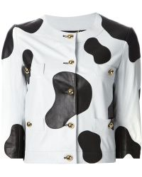Moschino Cow Panel Jacket - Lyst