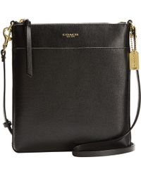 Coach Saffiano Leather North/South Swingpack - Lyst