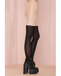 Nasty Gal Sock It To Me Tights - Lyst