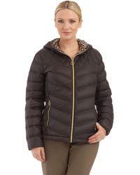 Michael Kors Plus Packable Hooded Jacket - Lyst