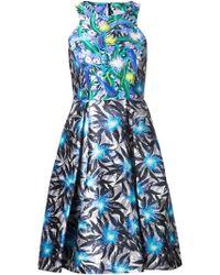 Peter Pilotto Graphic Floral Print Dress - Lyst