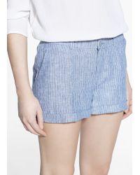 Mango Linen Shorts - Lyst