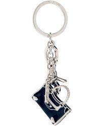 Balenciaga Classic City Bag Key Ring blue - Lyst