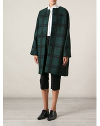Marni Oversized Checked Coat - Lyst
