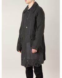 Greg Lauren - Distressed Patchwork Cotton Coat - Lyst