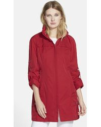 Rainforest - Packable Roll Sleeve Anorak, Red - Lyst