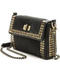 Whiting & Davis Brandy Shoulder Bag - Black Gold - Lyst