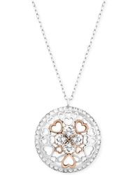 Swarovski Twotone Tasha Heart Round Pendant Necklace - Lyst