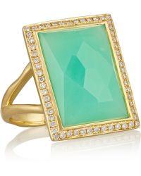 Ippolita - Rock Candy® 18-karat Gold, Chrysoprase And Diamond Ring - Lyst