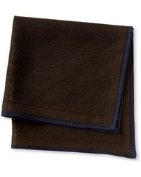 Banana Republic Brown Wool Pocket Square - Lyst