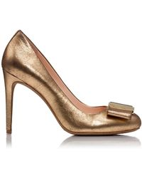 Tory Burch Gold Chase Pump - Lyst