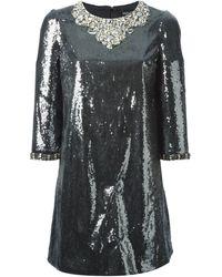 Dolce & Gabbana Sequin Embellished Dress - Lyst