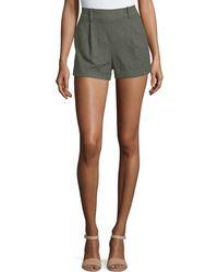 Diane von Furstenberg | Gillian High-rise Woven Shorts | Lyst