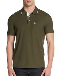 Original Penguin Mearl Tipped Cotton Polo Shirt - Lyst