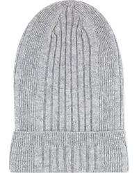 Jil Sander Cashmere Ribbed Hat Grey - Lyst