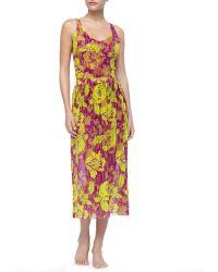 Jean Paul Gaultier Floral-print Chiffon Skirt - Lyst