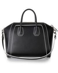 Givenchy Black Matt Leather 'Antigona' Medium Tote Bag - Lyst