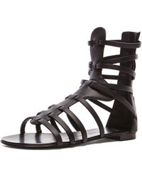 Giuseppe Zanotti Gladiator Leather Sandals - Lyst