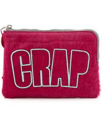 House Of Holland Croc Embossed Haircalf Bag - Pink - Lyst