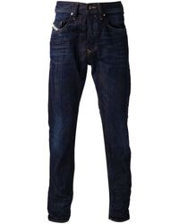 Diesel Blue Straight Jeans - Lyst