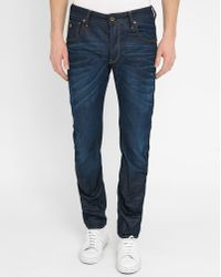 G-Star RAW | Blue Arc 3d Zip Washed Slim-fit Jeans | Lyst