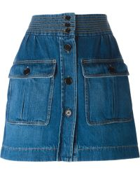 Chloé Blue Denim Skirt - Lyst
