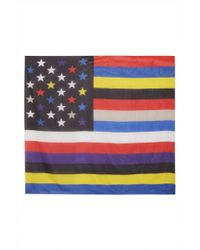 Givenchy American Flag Cotton-Silk Scarf multicolor - Lyst